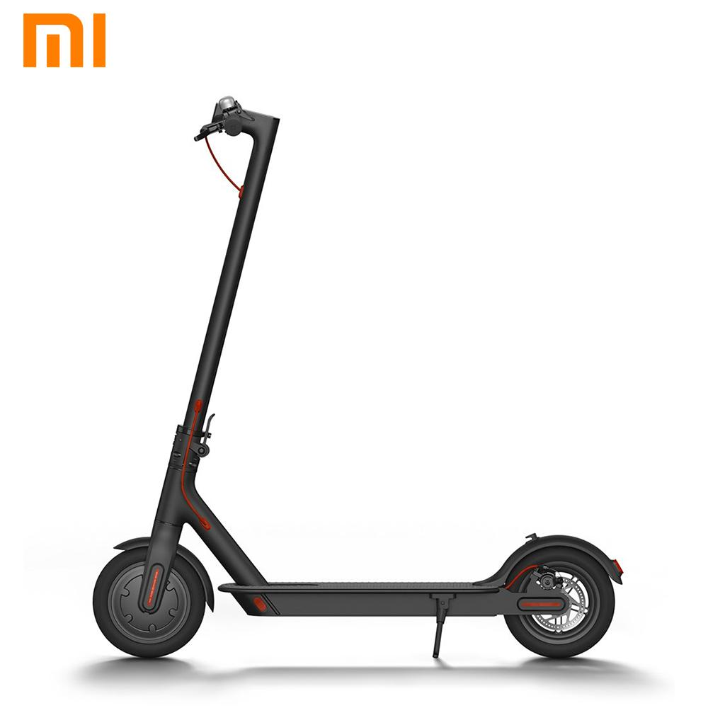 xiaomi mi m365 outdoor double breaking system kinetic energy saving easy  folding electric scooter (black