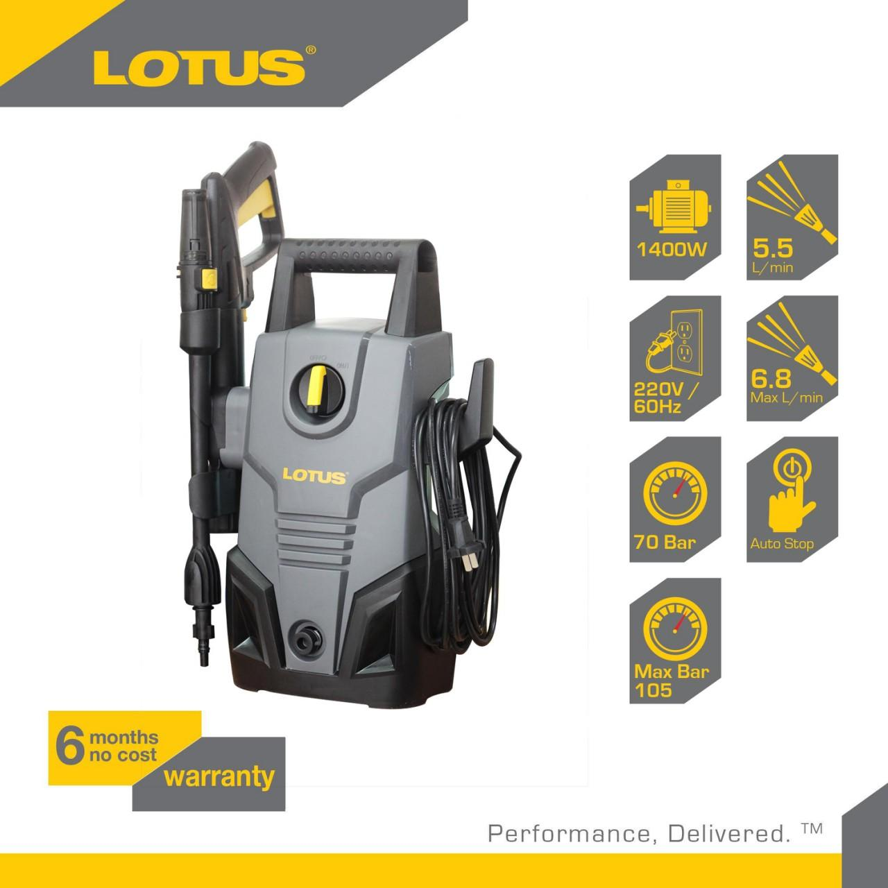 Lotus LTPW1400C2X 1,400 Watts Portable Pressure Washer Sprayer Philippines