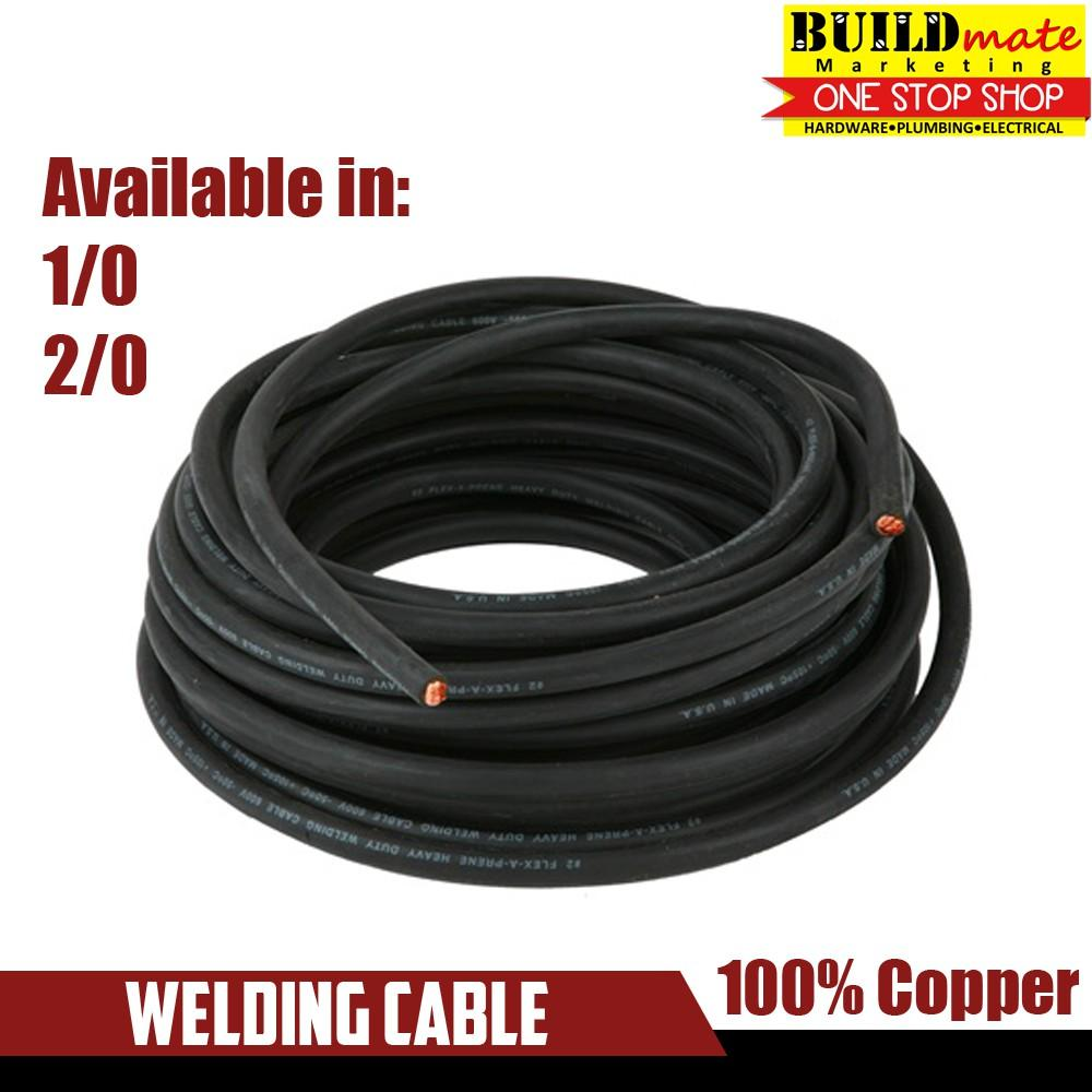 Welding Cable No.1/0 (38mm) - 10ft / 15ft / 20ft / 30ft By Buildmate.