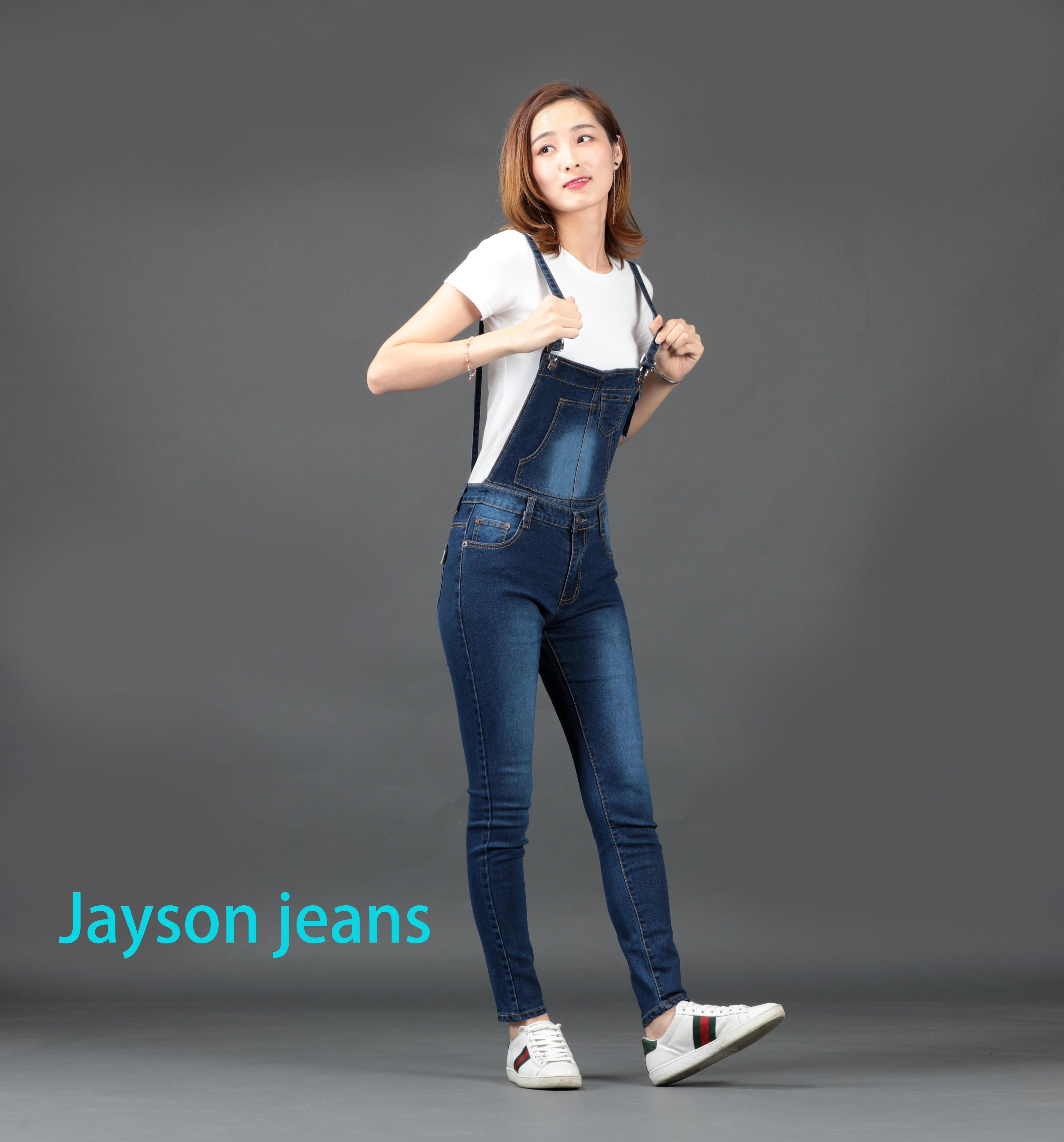 Jeans 2017 Denim Bib Pants Female Bf Loose Plus Size Denim Trousers Female Jumpsuit Cheap Wholesale Bringing More Convenience To The People In Their Daily Life