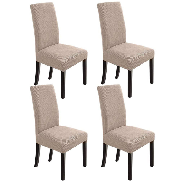 Dining Room Chair Slipcovers Dining Chair Covers Chair Slipcover Stretch Chair Covers For Dining Room Set of 4,Khaki