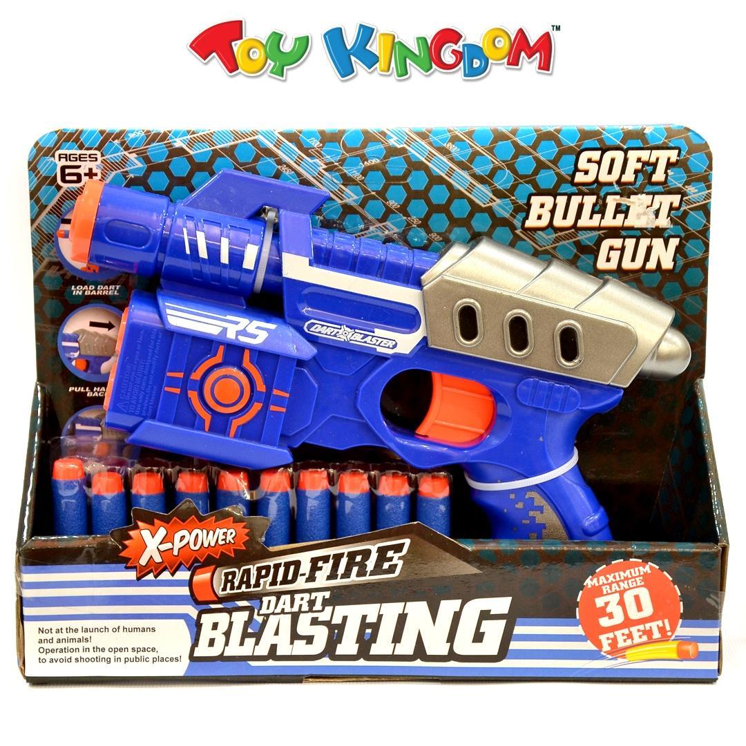 X-Power Rapid-Fire Dart Blasting 9 5-inch Soft Bullet Blaster for Boys