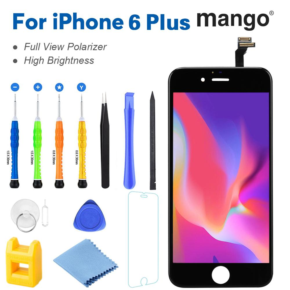 Mango®c13 for iPhone 6 Plus (Black) LCD Touch Screen Digitizer replacement  with tool kit & screen protector