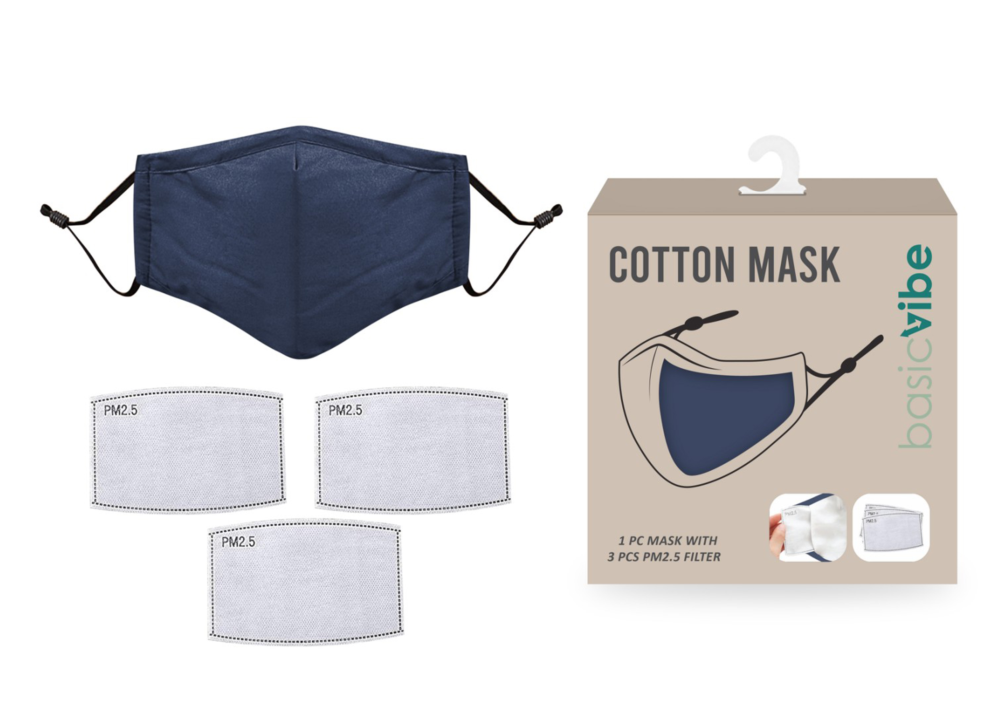 Reusable 3 Layer Mask-Washable Mask kids Adult Mask Mask with filter pocket and 3pcs PM 2.5 Activated Carbon filter