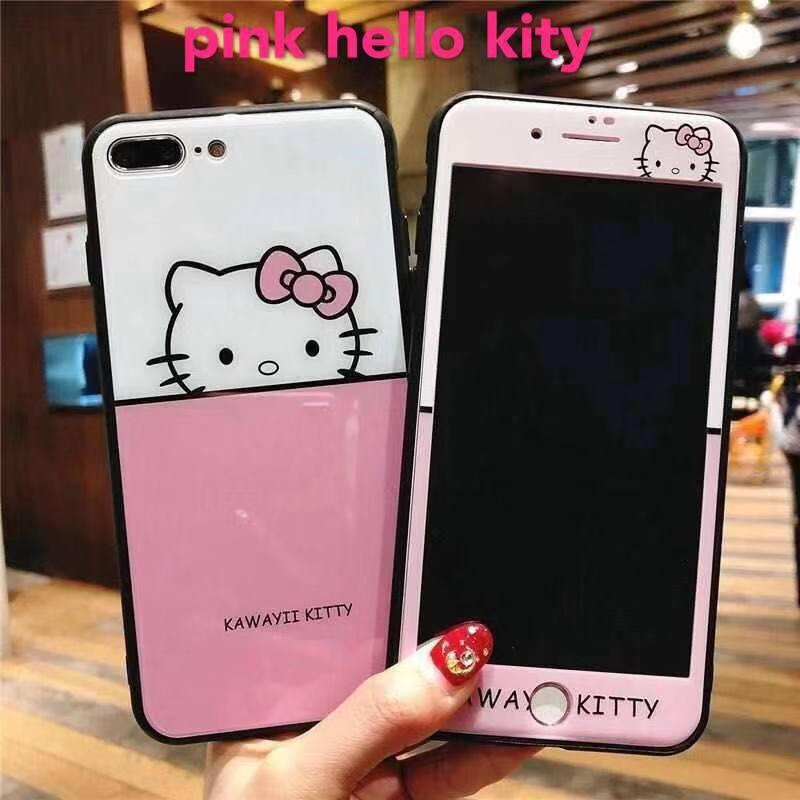 Cartoon Case Free Tempered Glass For Oppo A71