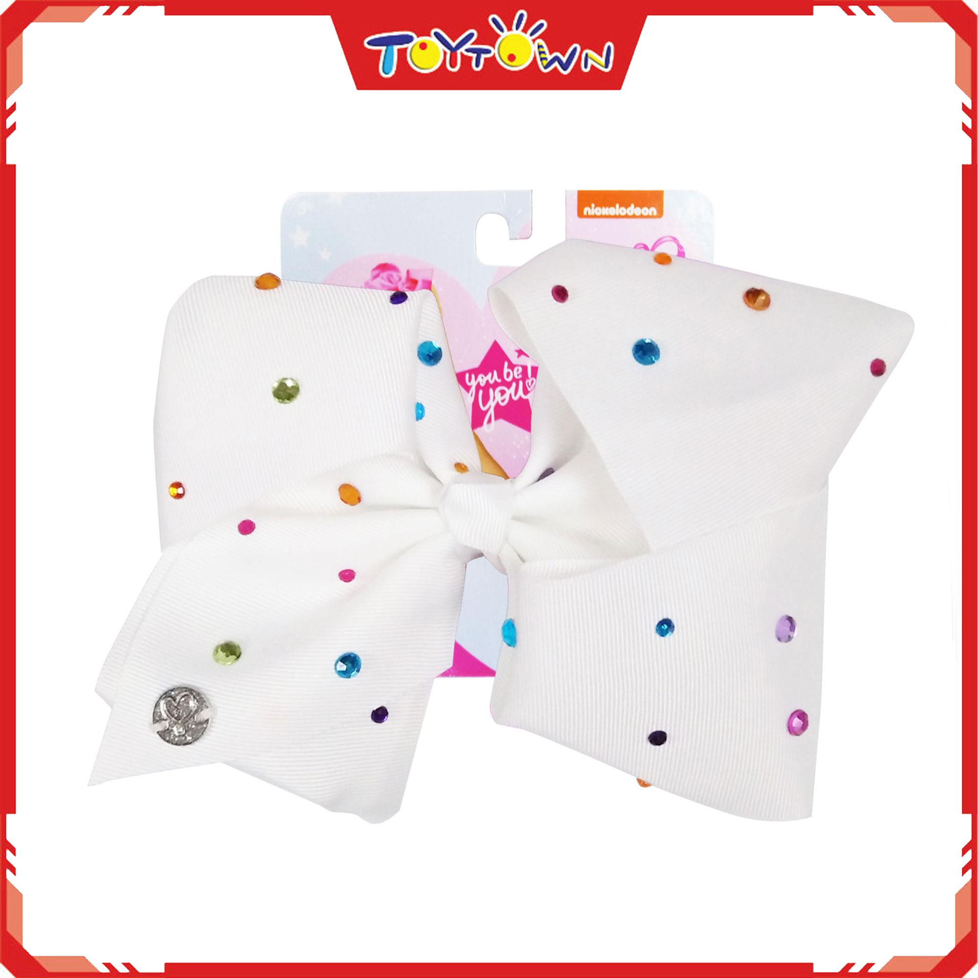 Jojo Siwa White With Multi Colored Stones Bow By Toytown 2