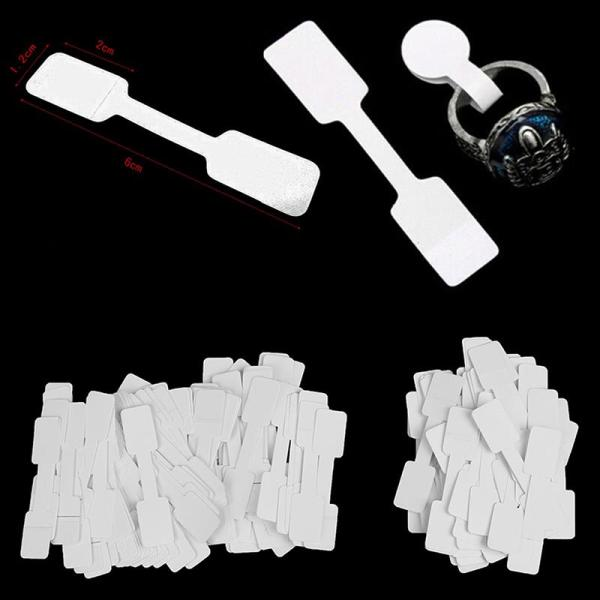 【jiajufuzhuang】50/100Pcs Blank price tags necklace ring jewelry labels paper stickers