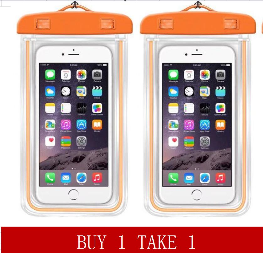399de78d064a Buy 1 Take 1 Glow in the Dark Water Proof Case Pouch for Mobile Phone  Underwater