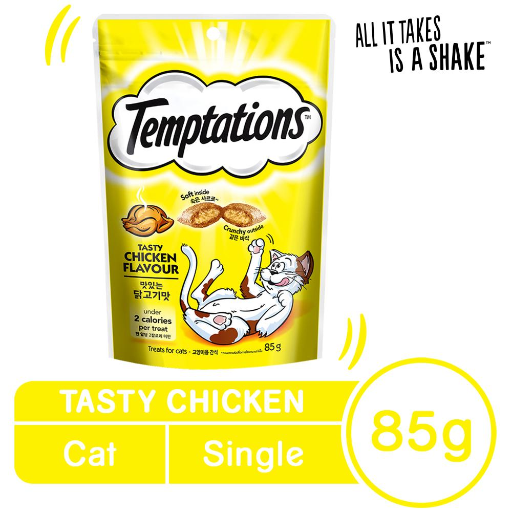 TEMPTATIONS™ Tasty Chicken Flavor Cat Treat Single (85g) image