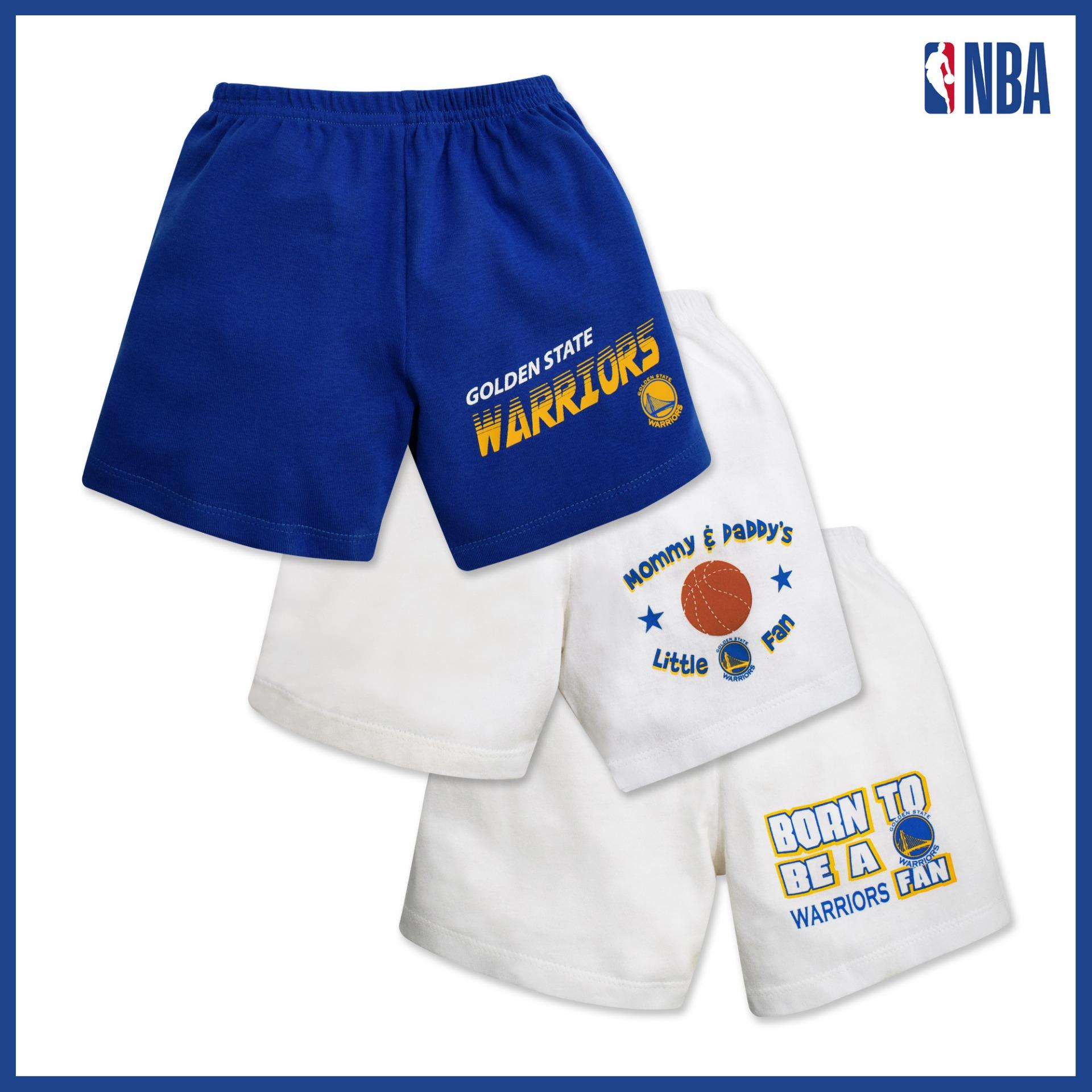 Nba Baby - 3-Piece Shorts (born To Be - Warriors) By Cotton Stuff.