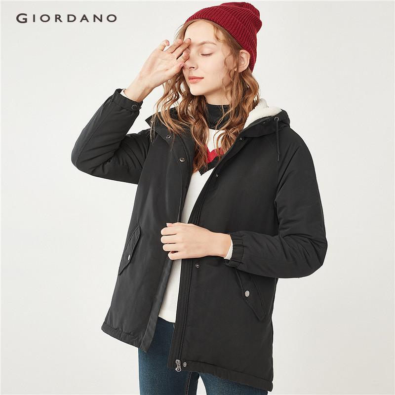 57a52b7d9 Giordano Beau Monde Women Thick hooded fleeced mid-long down jackets [Free  Shipping] 13378704
