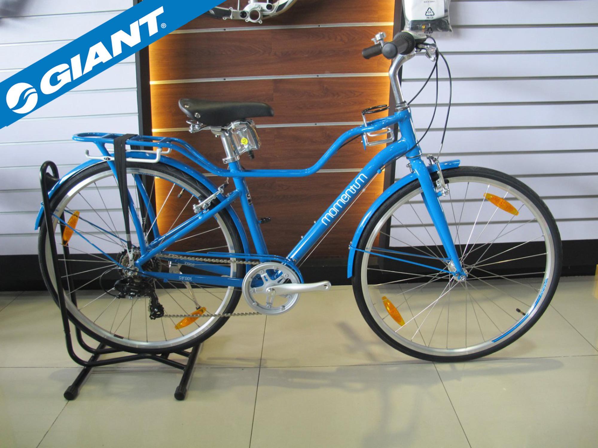 GIANT MOMENTUM I NEED STREET 2017 City Japanese Cruiser Mountain MTB Road  Bike Blue