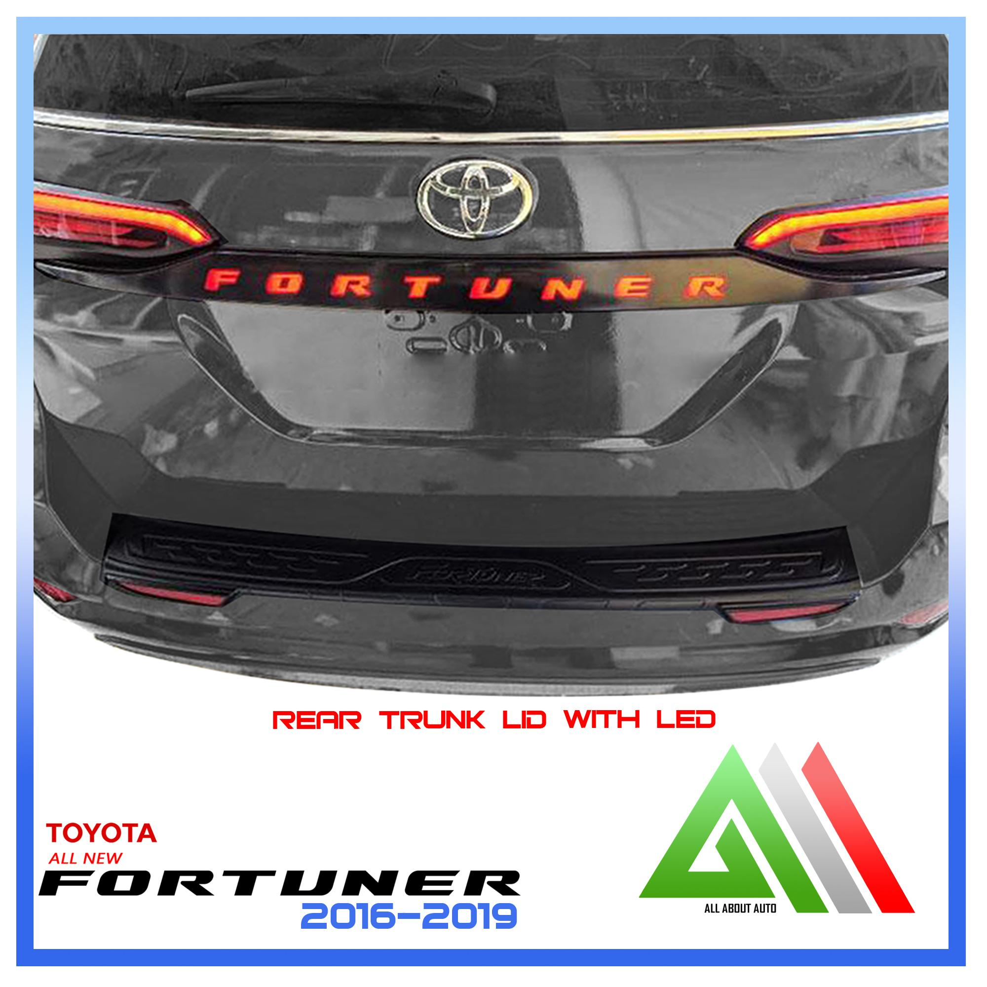 Toyota Fortuner 2019 Rear Trunk Lid with Led Thailand Made