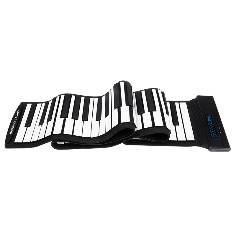 New Flexible 88 Keys Usb Flexible Roll Up Roll-Up Electronic Piano Keyboard Professional With Battery