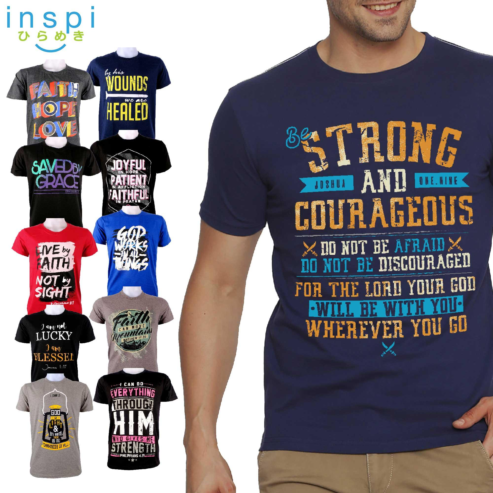 d50608b8 INSPI Tees Bible Verse Collection tshirt printed graphic tee Mens t shirt  shirts for men tshirts