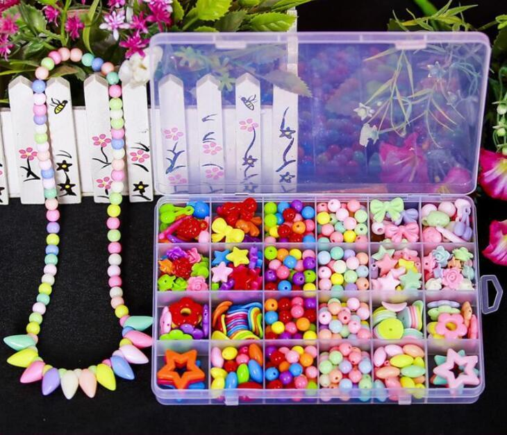 Girls Jewelry Making Kit Diy Necklace Handmade Flower Pendant Crafts Educational Toys Necklaces & Pendants