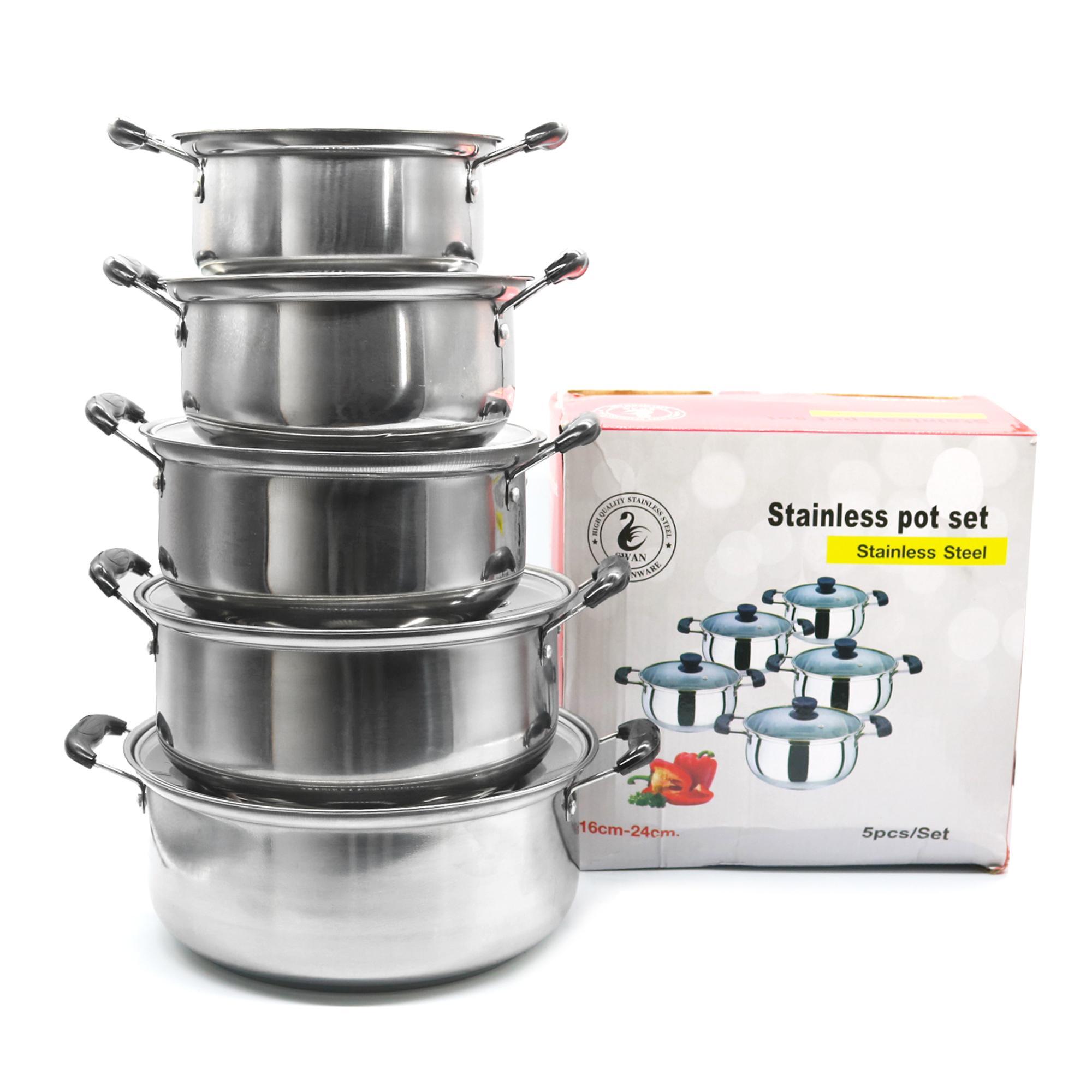 Stainless Pot Set 5pcs set