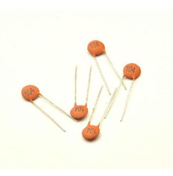 LngBo 100pcs/bag Ceramic Disc Capacitors 50V 100nF 0.1uF 104pF