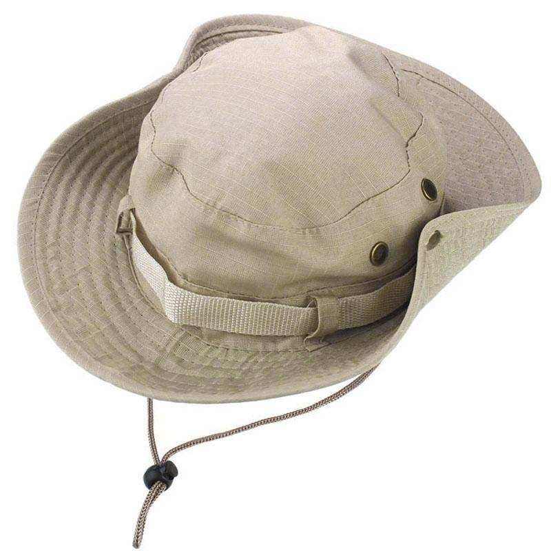 3bcaf8ccbc1 BPFAIR Bucket Hat Boonie Pangangaso Pangingisda Outdoor Wide Cap Brim  Military Unisex Free shipping