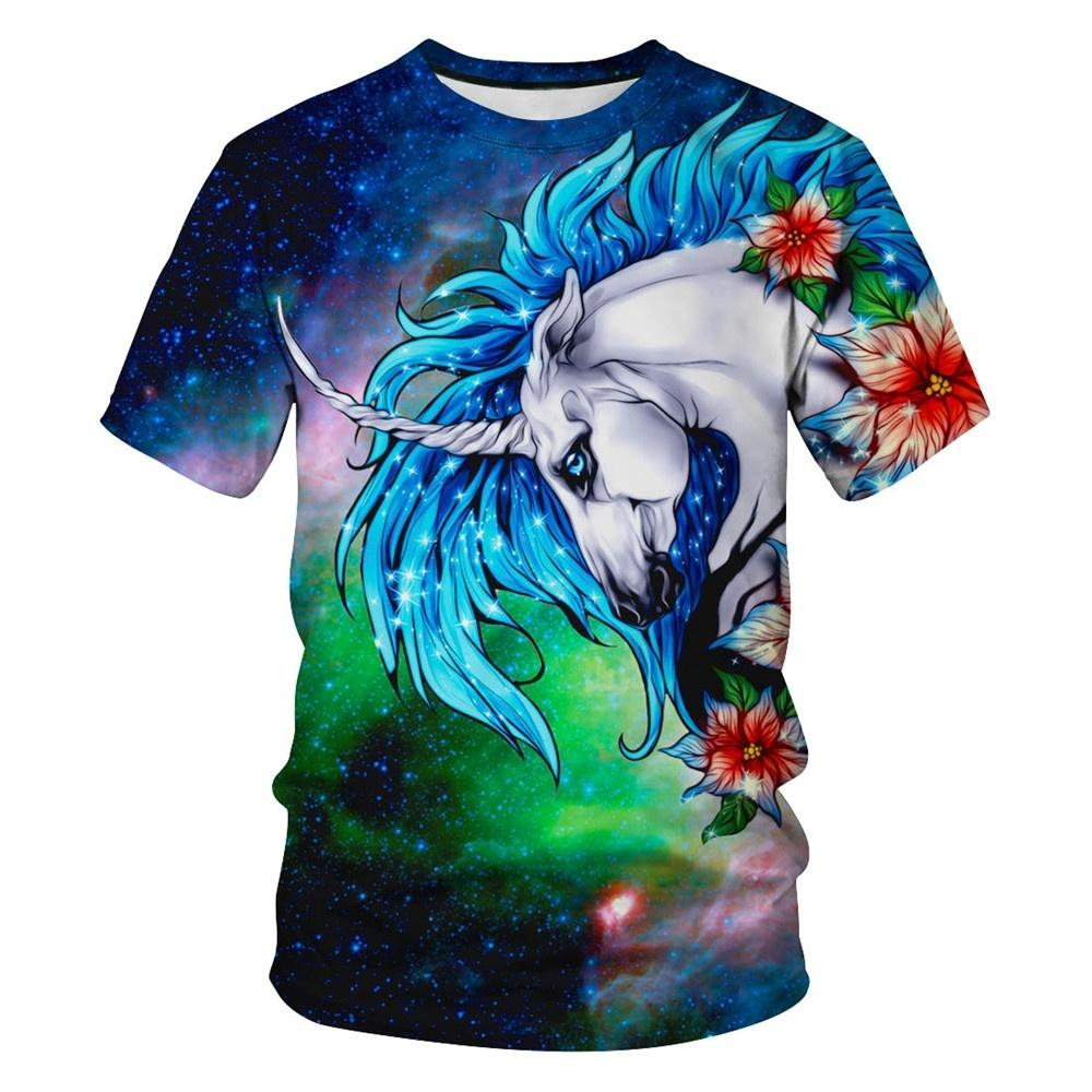 3D T Shirt Funny Tee Shirts Unicorn Galaxy Printed Men Women Casual Tops  Summer Unisex T e3d9ad5ca2b7