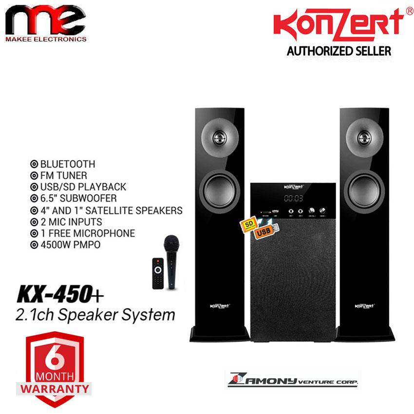 Konzert Kx-450+ Bluetooth Speaker System 4500w Pmpo (black) By Makee Electronics.