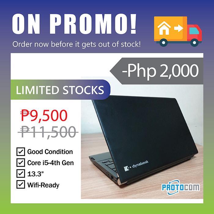 On Promo! Toshiba Laptop 13 3