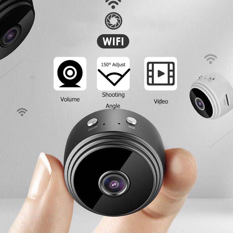A9 Mini Máy Ảnh Màn Hình Mạng IP WiFi Không Dây An Ninh Cam Camera P2P An Ninh Gia Đình HD 1080P WiFi