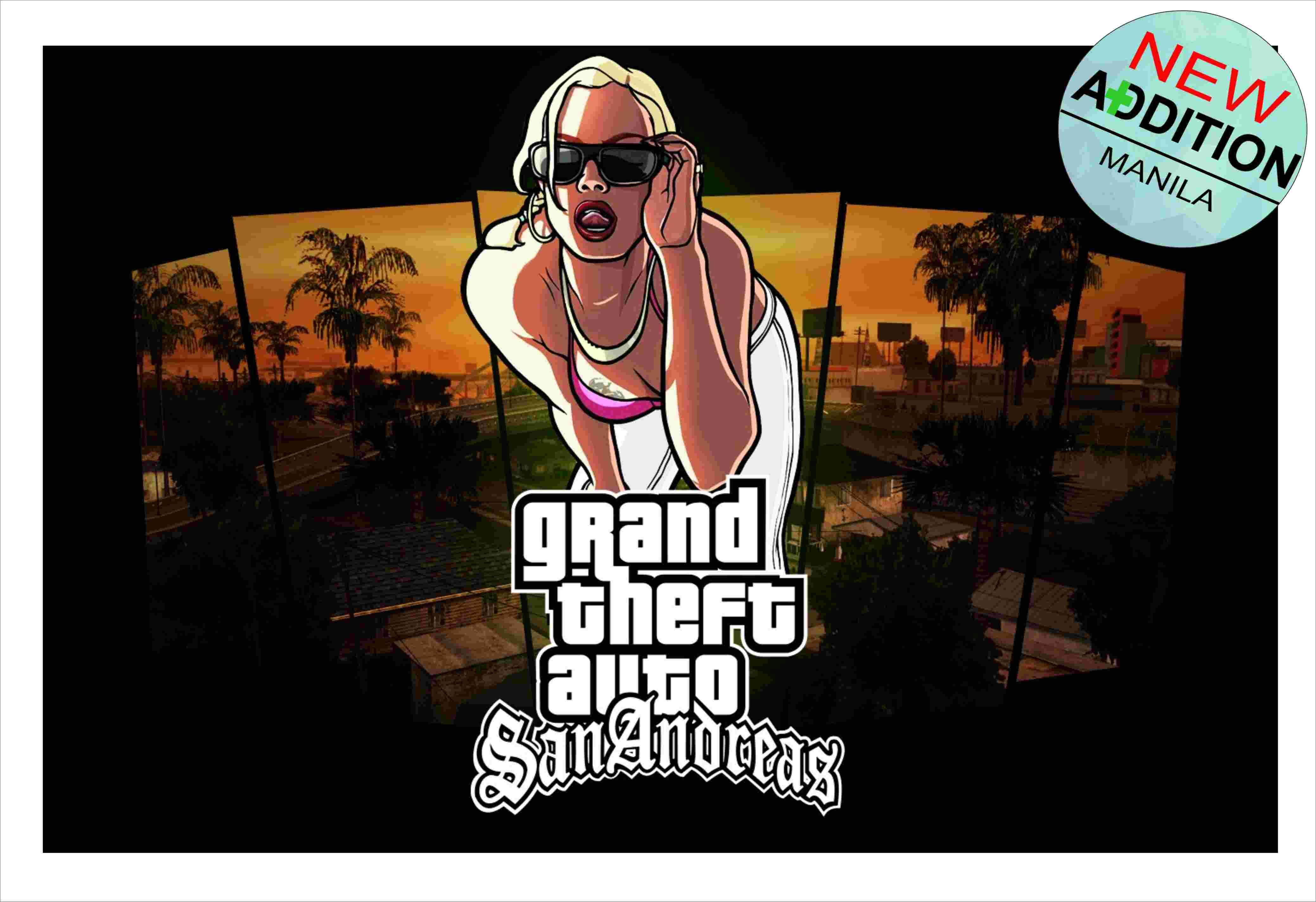 GTA SAN ANDREAS GAME COVER POSTER LARGE 33cm X 50cm