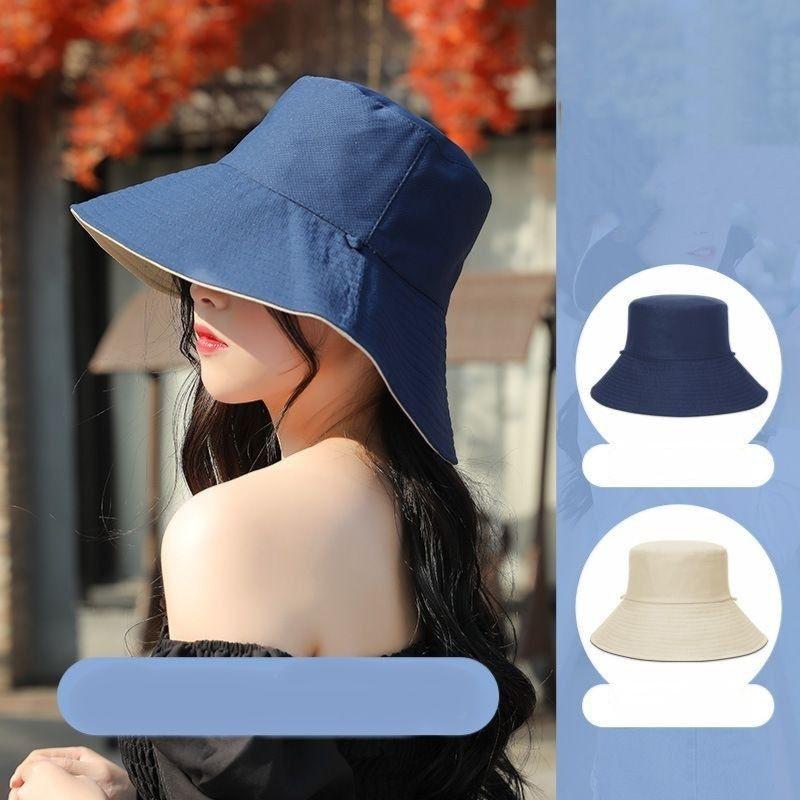 brimmed hat for women,large brim hat big brim sun hat foldable hat reversible sun hat travel hat Bright blue hat