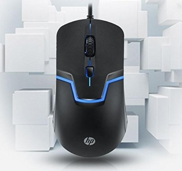 f7407dde55e HP M100 Wired Gaming Optical Mouse With 7 Colours Rainbow LED (Black)
