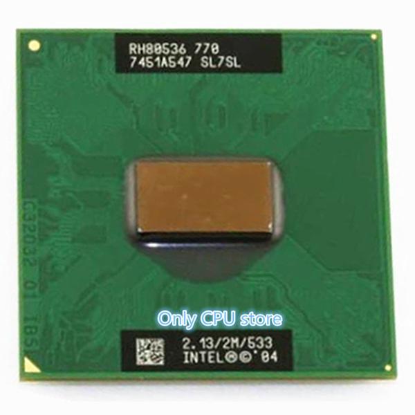 PM770 CPU notebook Pentium M Processor 770 2M Cache 2.13 GHz 533 MHz PM 770 CPU PPGA478 YFD Store