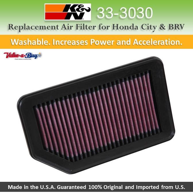 K/&N 33-3030 Replacement Air Filter
