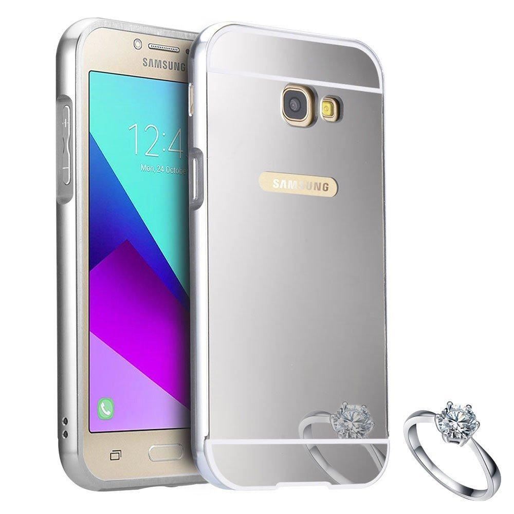 PHP 160. Samsung Galaxy A7 2017 Luxury Anti-Scratch Ultra Thin Detachable Metal Aluminum Frame Bumper Acrylic Back Panel Mirror CasePHP160