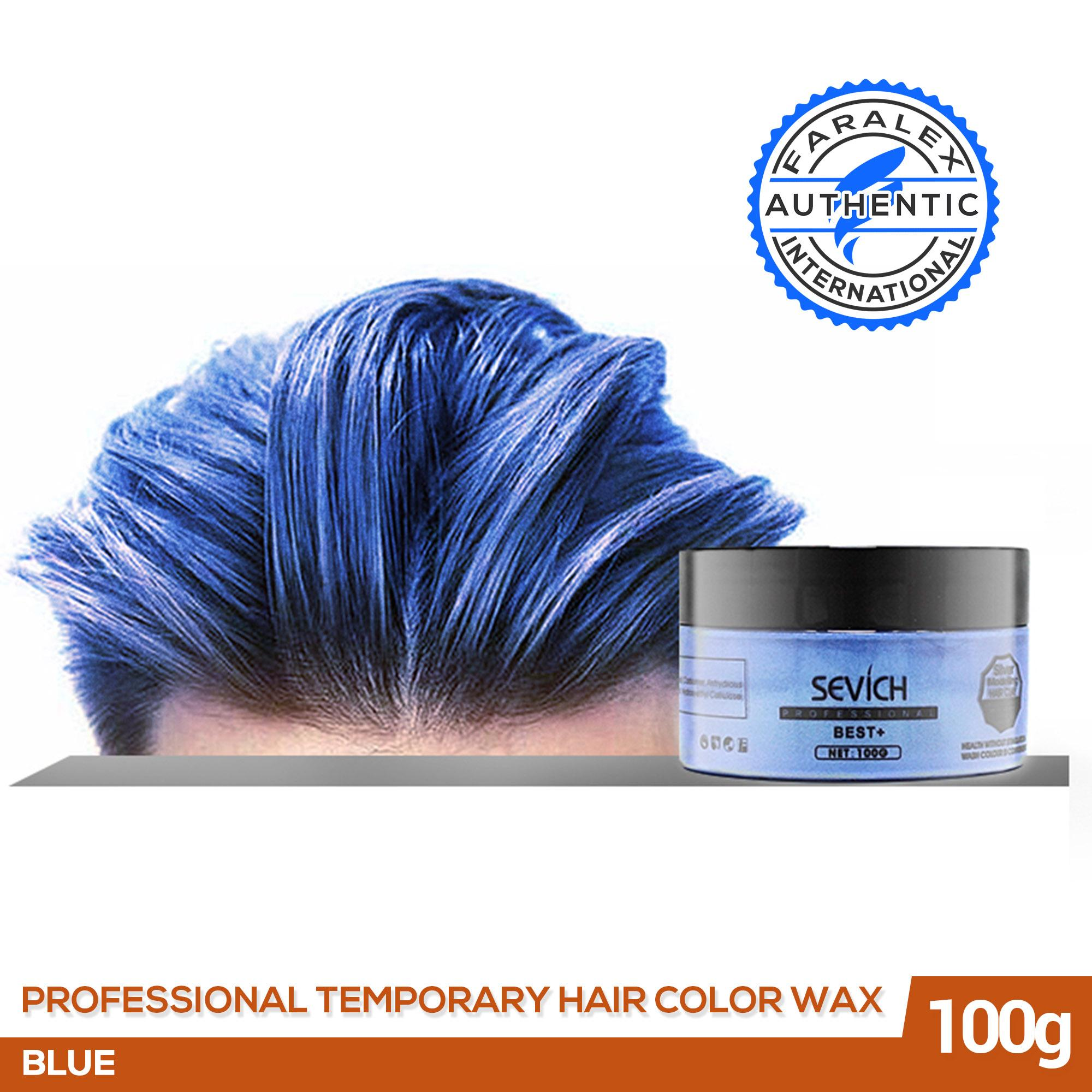 Sevich Professional Temporary Hair Color Wax (BLUE - 100G), Instant  Hairstyle Dye for Men and Women Fashion Hair, Faralex Washable Hair Color  Dye
