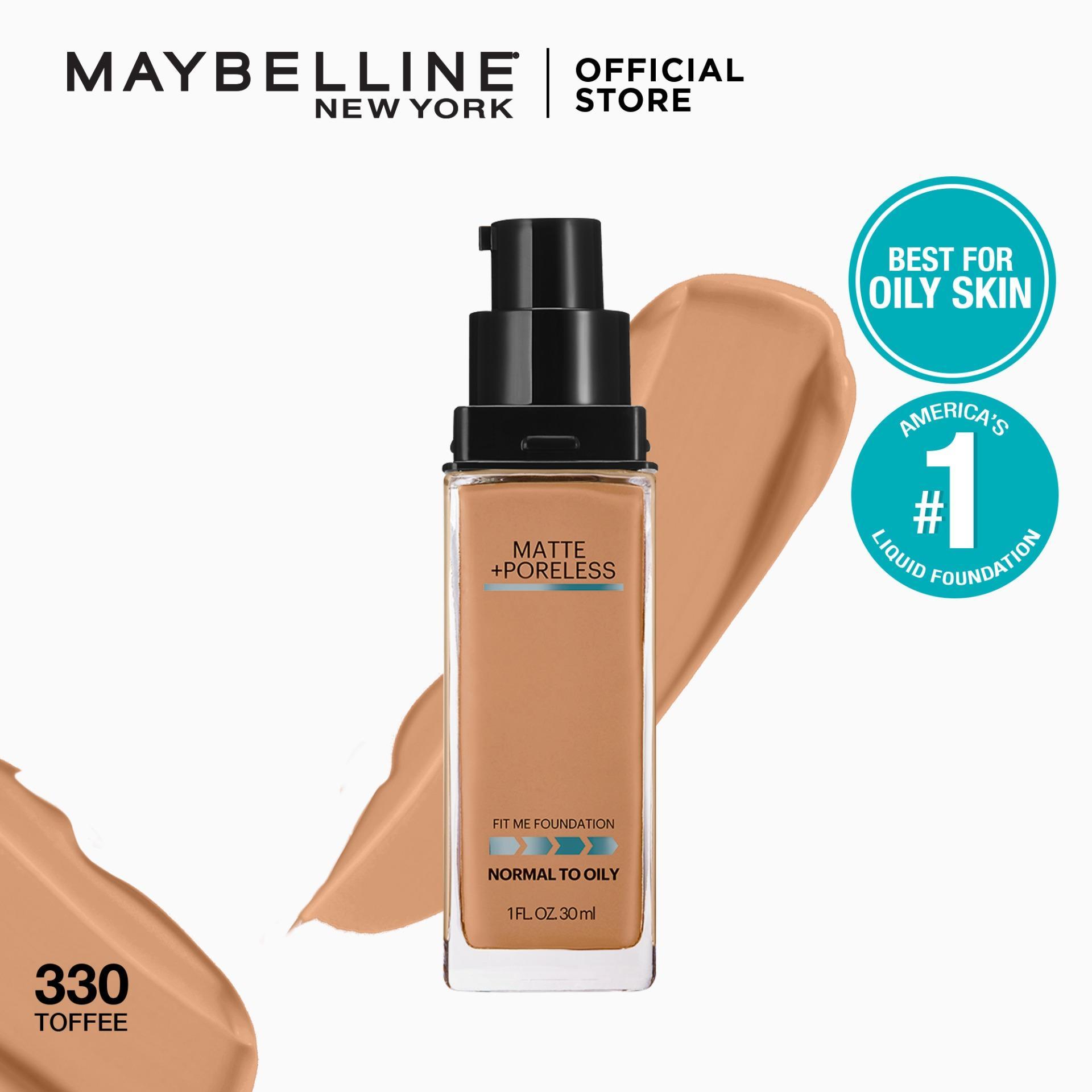 Maybelline Fit Me Matte + Poreless Liquid Foundation Makeup 30 mL