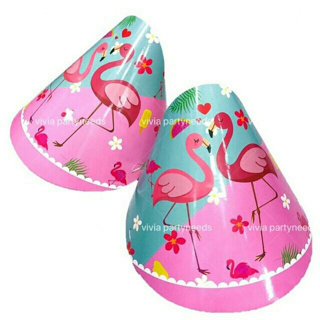 Flamingo Party Hat (10pcs) By Ah K Asta Store.