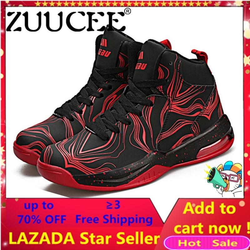 Zuucee Women Fashion Outdoor Sports Basketball Shoes Lovers Running High-Top(red Black)【free Shipping】 By Zuucee.