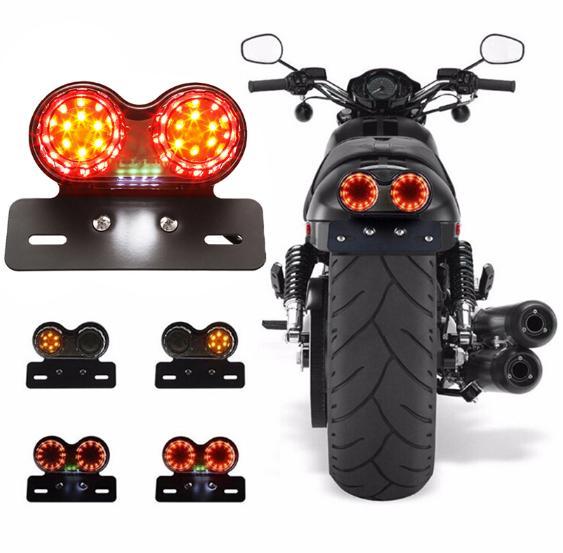 /'Stop/' Rear Brake Tail Light License LED Light 12V For Harley Chopper Bobber