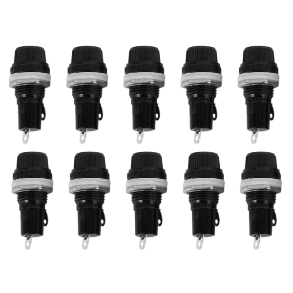10 Pcs Electrical Panel Mounted 5 x 20mm Fuse Holder