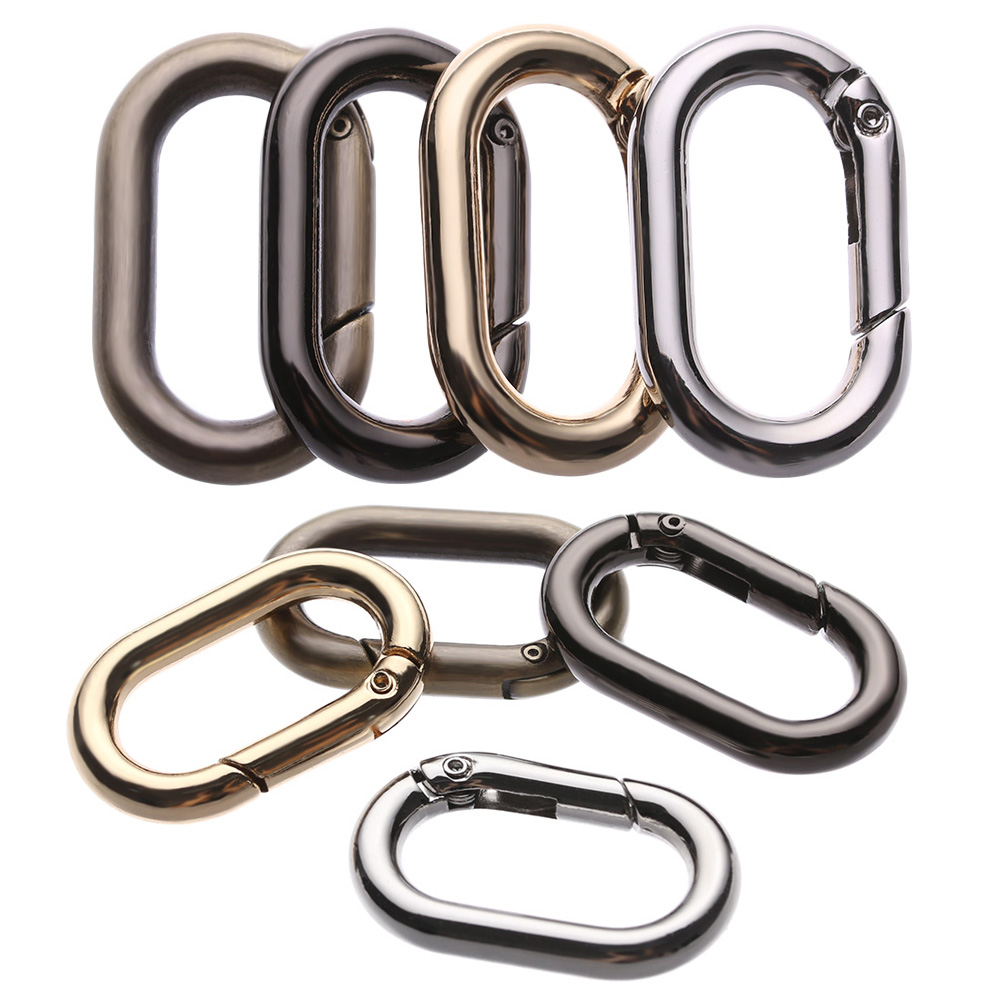 Accessories Bag Belt Buckles Handbags Clips Spring Oval Rings Outdoor Carabiner