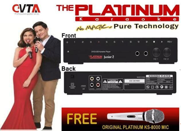 Platinum KS-10 Junior 2 Karaoke Player + DVD + Songbook + Remote + Mic  (13000+ Songs)