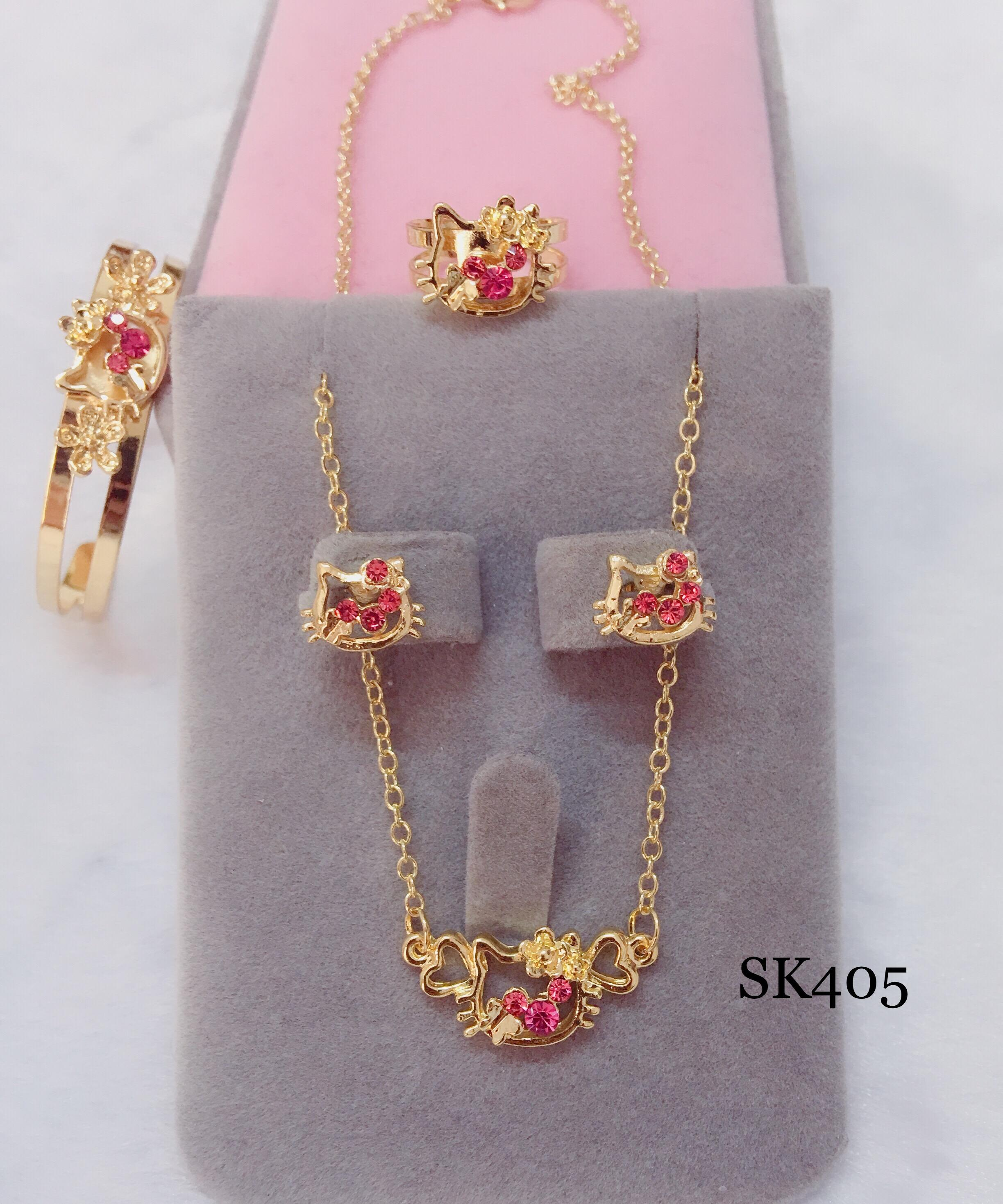 Sk405 18k Rose Gold 4 In 1 Set For Kids By Miss M Shop.
