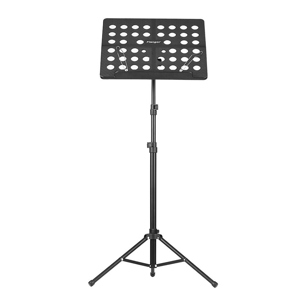Flanger FL-05R Collapsible Sheet Music Score Tripod Stand Holder Bracket Aluminum Alloy with Water-resistant Carry Bag for Orchestra Violin Piano Guitar Instrument Performance