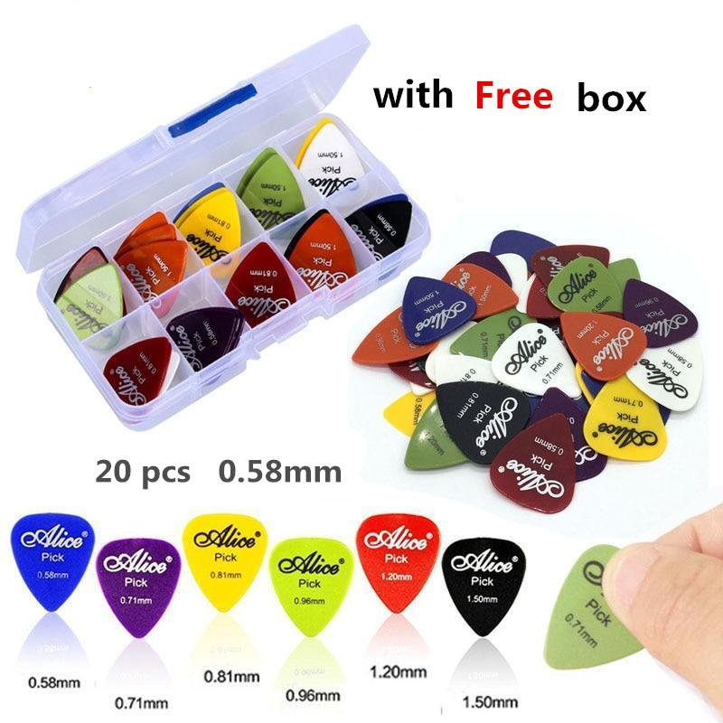20pcs Electric Guitar Pick Acoustic Music Picks Plectrum 0.58/0.71/0.81mm Thickness Guitar Accessories(with Free Box) By Blong001.