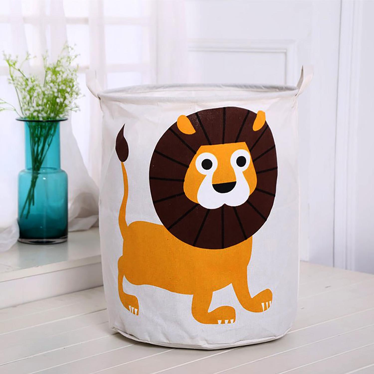 35x45cm Toy Storage Organizer/ Clothes Hamper/ Laundry Organizer- Collapsible Bin W/ Cartoon Print By Trikkis.