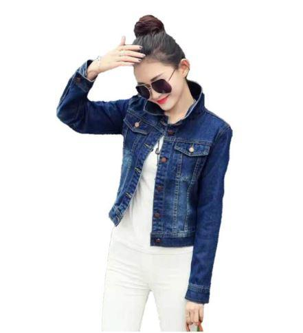 37cfd20fd5bc2 Korean Denim jacket for her (S-XL) stretchable for women jacket coat