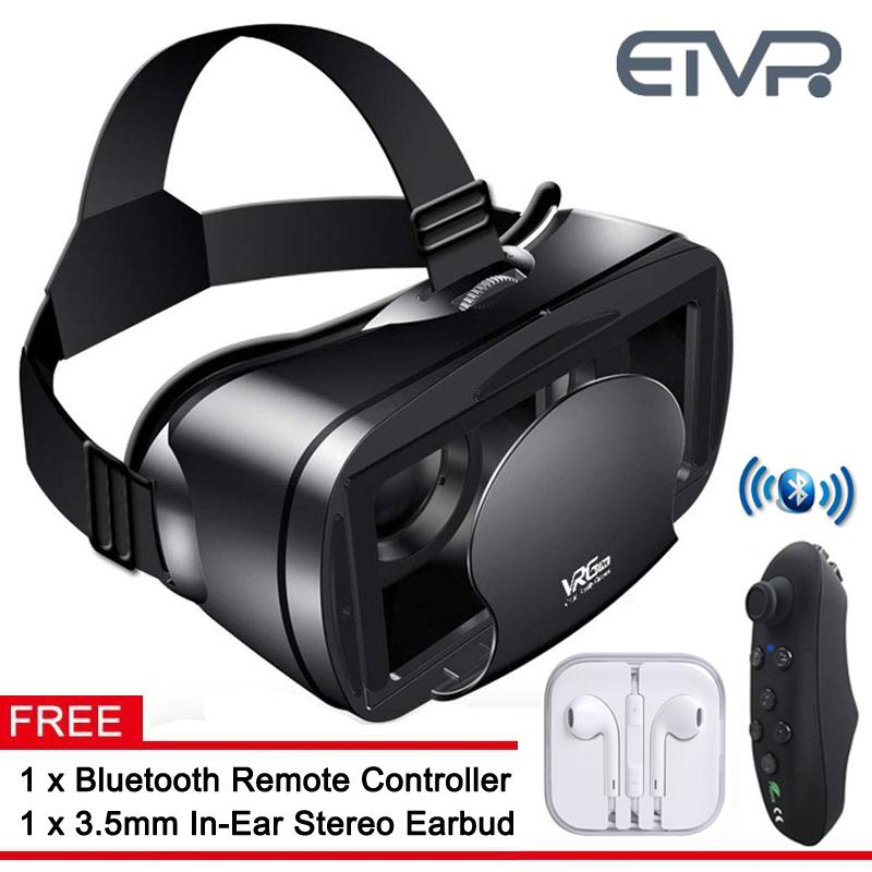 3D Movies/Games VR Box Immersive Virtual Reality Headset with Remote  Controller Built-in HD Aspherical Lens, Perfect Gifts Choices Fit For 5-7  inches