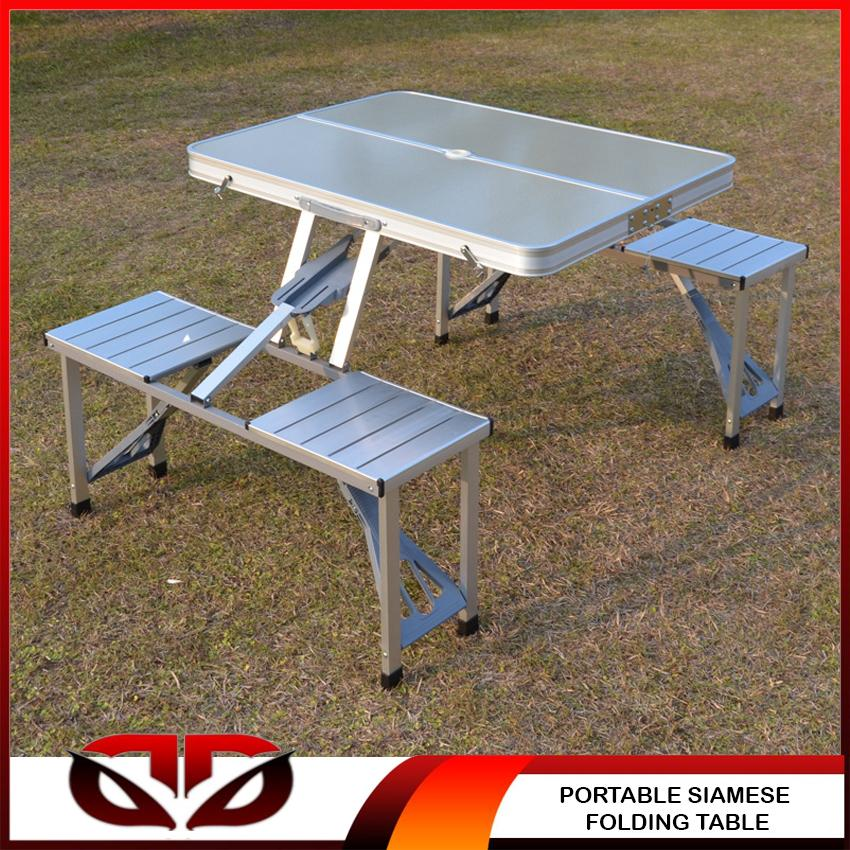 Phenomenal Portable Outdoor Folding Table Siamese Tables And Chairs Set Aluminum Alloy Gold Folding Table Folding Computer Desk Download Free Architecture Designs Scobabritishbridgeorg