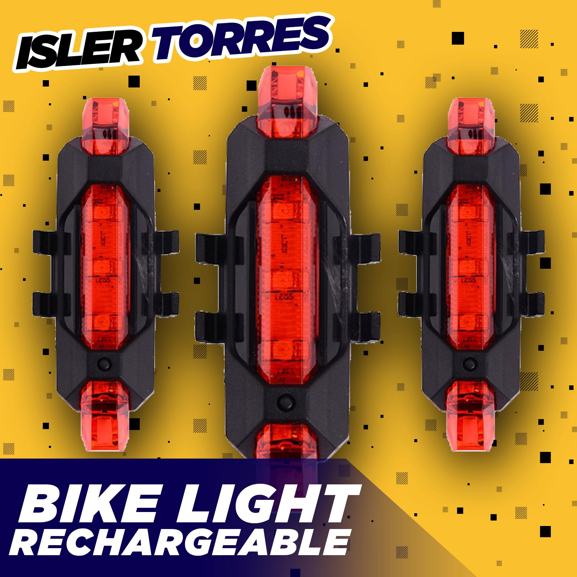 super bright bicycle lights led rear tail lamp safety warning cycling  flashTS