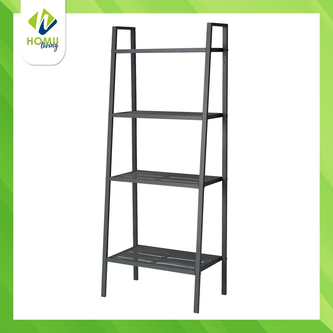 Homu Lerberg Shelf Unit White Dark Grey Bookcases Shelving Units For Home And Office Furniture Lazada Ph